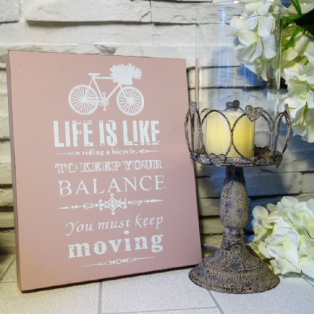 40% OFF Life Is Like Riding a Bicycle Pretty Pastel Sign